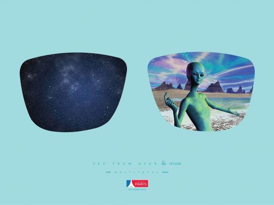 Óticas Paris Print Ad - Alien