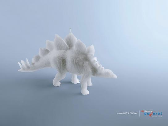 Mahindra Powerol Print Ad -  Stegosaurus