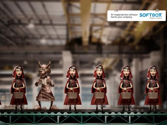 Softbox Print Ad -  Little Red Riding Hood