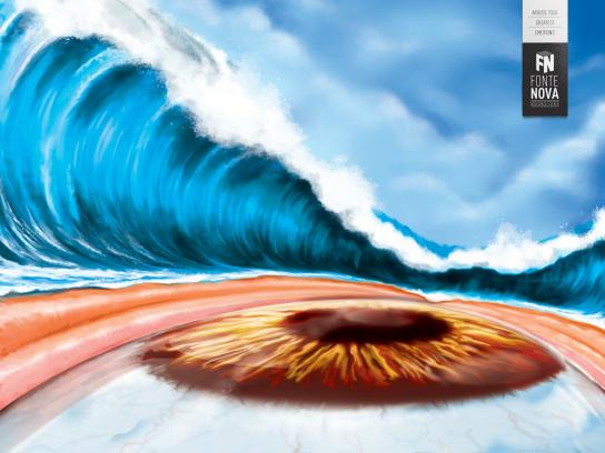 Fonte Nova Bookstore Print Ad -  Tsunami, 1