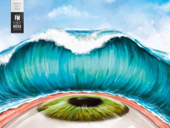 Fonte Nova Bookstore Print Ad -  Tsunami, 2