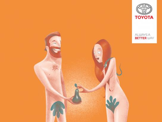 Toyota Print Ad - Adam & Eve
