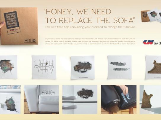 Lar Center Direct Ad -  Furniture Stickers