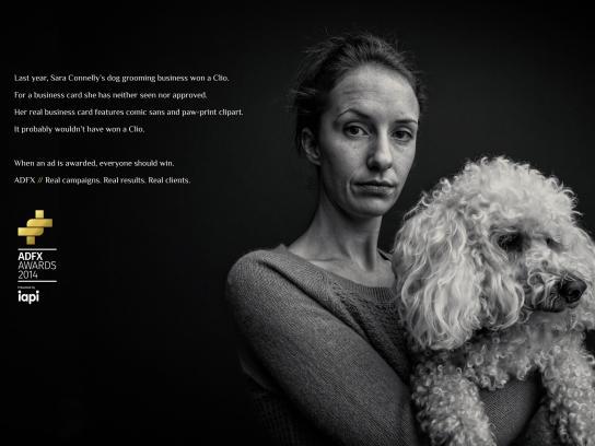ADFX Print Ad -  Dog groomer