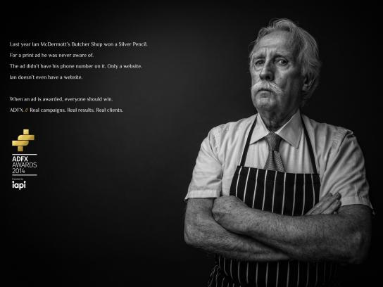 ADFX Print Ad -  Butcher