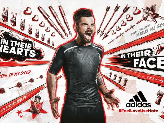 Adidas Print Ad -  Red