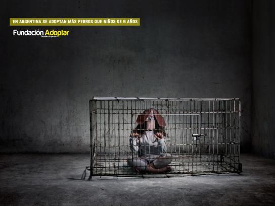 Fundación Adoptar Print Ad -  Cage, 1