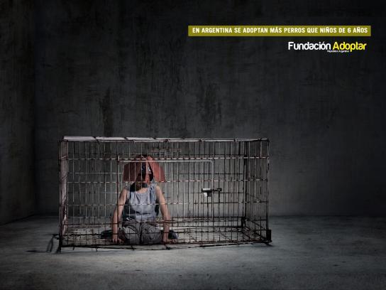 Fundación Adoptar Print Ad -  Cage, 2