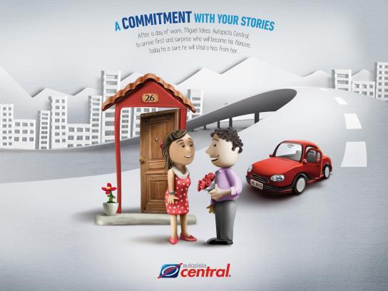 Autopista Central Print Ad -  Kiss