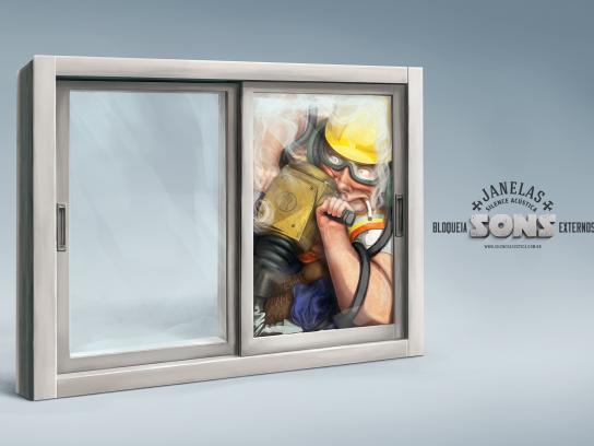 Silence Acústica Print Ad -  The stone crusher