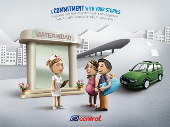Autopista Central Print Ad -  Birth