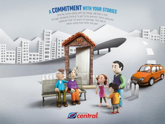 Autopista Central Print Ad -  50 years of marriage
