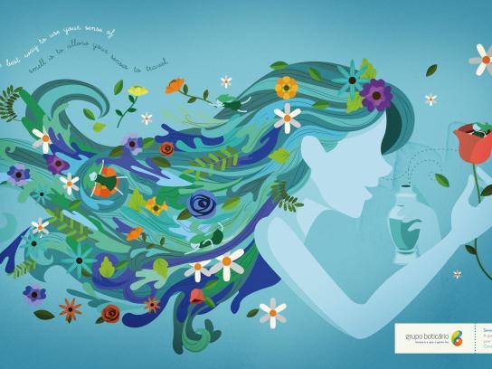Grupo Boticario Outdoor Ad - Sense of smell space