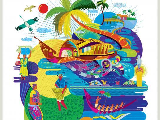 Kerala Tourism Print Ad - Venice of the East
