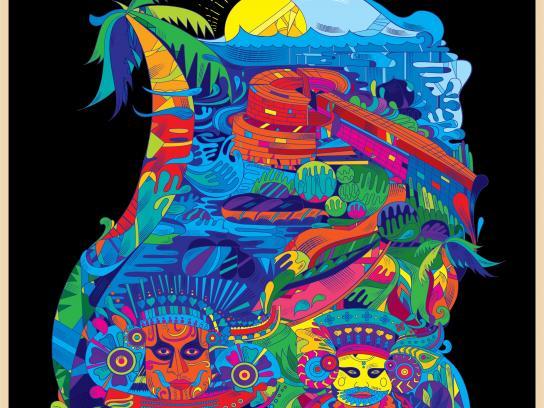 Kerala Tourism Print Ad - Land of Gods