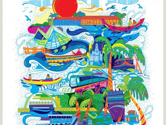 Kerala Tourism Print Ad - Queen of the Arabian Sea