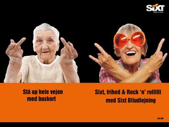 Sixt Print Ad -  Grandma rents a car