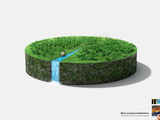 Top Destinos Print Ad -  Waterfall