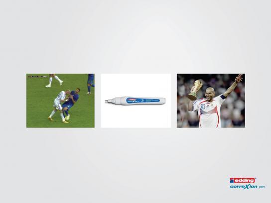 Edding Print Ad -  Zidane