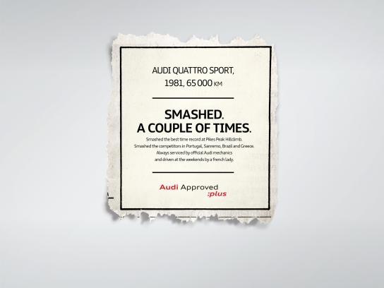 Audi Print Ad - Quattro
