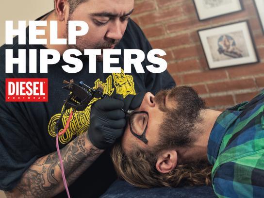 Diesel Print Ad -  Help hipsters
