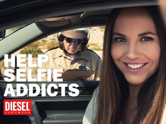 Diesel Print Ad -  Help selfie addicts