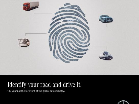 Mercedes Print Ad - Identify your road