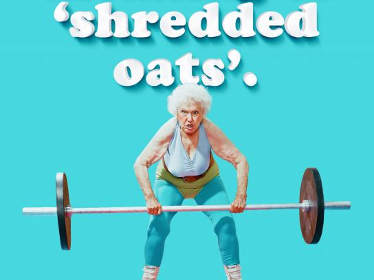 Oatly Print Ad - Oatly Does a Body Better - Shredded Oats