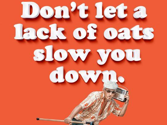 Oatly Print Ad - Oatly Does a Body Better - Plenty of Oats