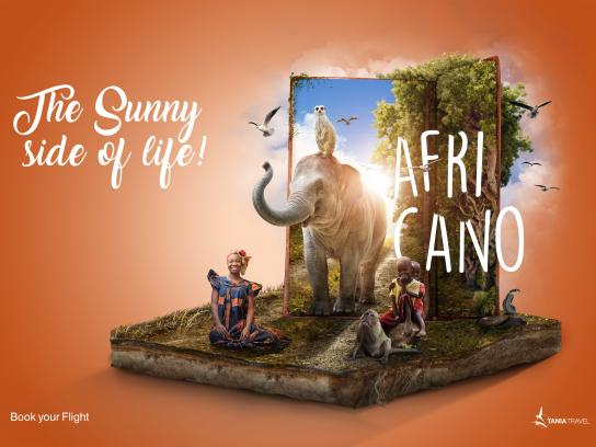Tania Travel Print Ad - Africa