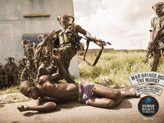 HRF Print Ad -  War shows the worse side of life, Africa
