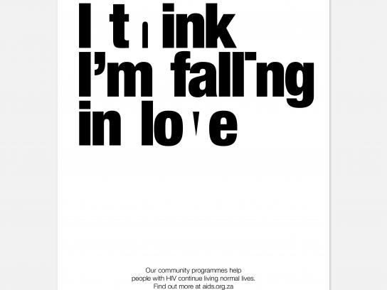 AIDS Foundation of South Africa Print Ad - Falling In Love