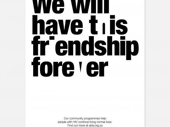 AIDS Foundation of South Africa Print Ad - Friends Forever