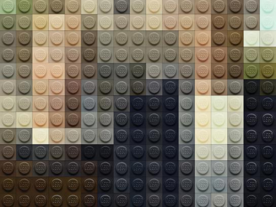 Lego Print Ad -  Wood