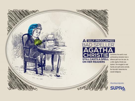 Supra Pens Digital Ad - Agatha Christie
