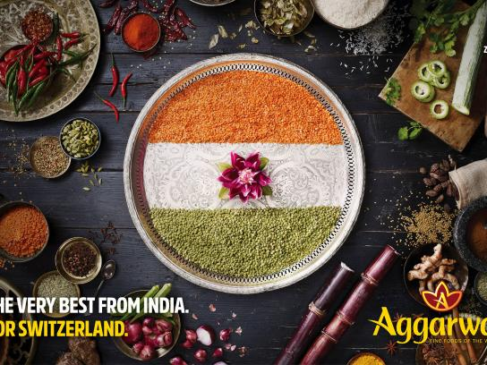 Aggarwal Print Ad - From India for Switzerland