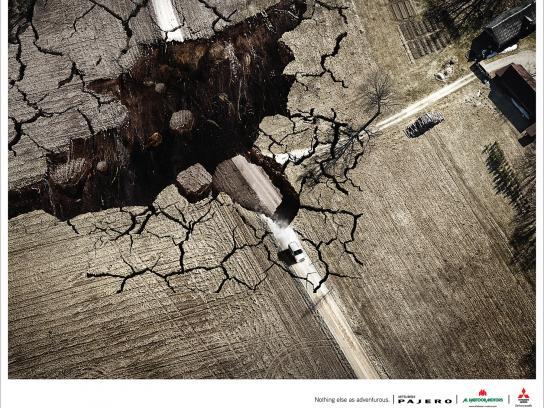 Mitsubishi Print Ad -  Earthquake