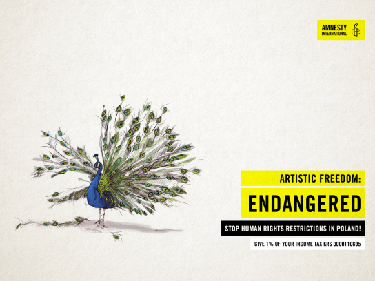 Amnesty International Print Ad - Artistic Freedom