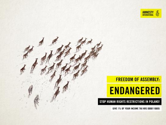 Amnesty International Print Ad - Freedom of Assembly