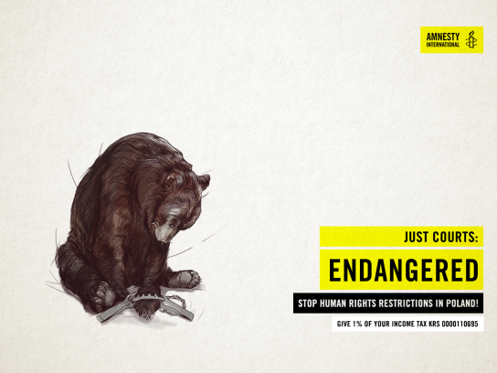 Amnesty International Print Ad - Just Courts