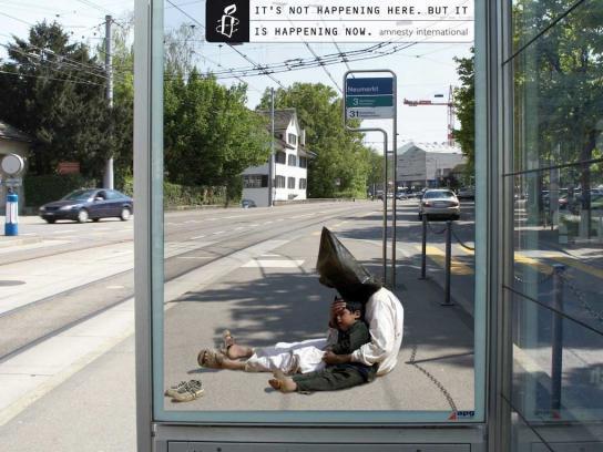 Amnesty International Outdoor Ad -  It's happening, 3