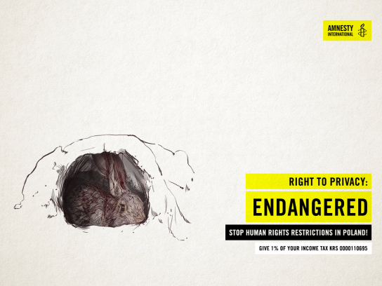 Amnesty International Print Ad - Right to Privacy