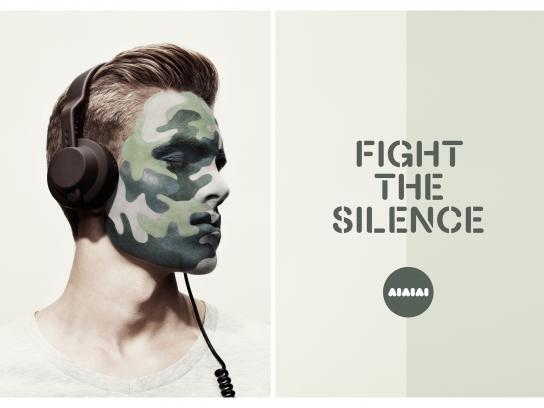 AIAIAI Outdoor Ad -  Fight The Silence