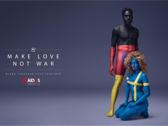 Aides Print Ad - Make love, 1