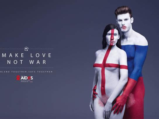 Aides Print Ad - Make love, 2