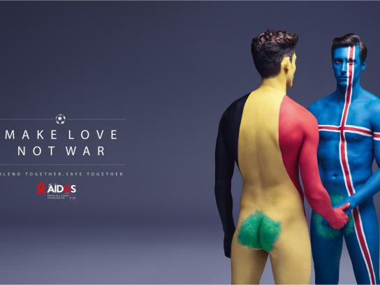 Aides Print Ad - Make love, 3
