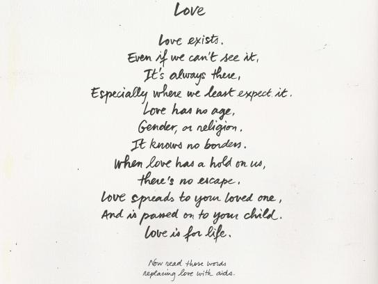 Aides Print Ad - Love