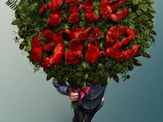 AIMI Flowers Print Ad -  One