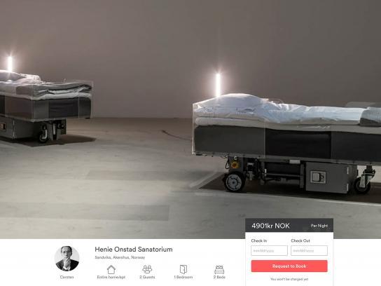 Carsten Höller Exhibit Digital Ad - Self-driving bed