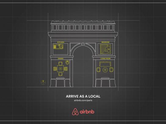 Airbnb Print Ad -  Paris